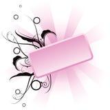 Roze bloemenbanner stock illustratie