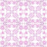 Roze bloemenbehang Stock Afbeelding