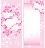 Roze bloemenbrochuremalplaatje Royalty-vrije Stock Afbeelding