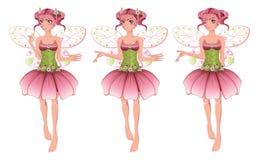 Roze Bloemenfee Stock Fotografie