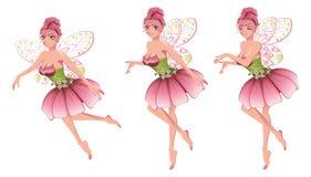 Roze Bloemenfee Royalty-vrije Stock Afbeeldingen