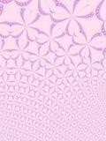 Roze bloemenfractal achtergrond Stock Afbeeldingen