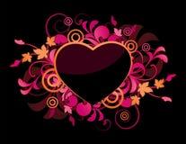 Roze bloemenhart Royalty-vrije Stock Afbeelding