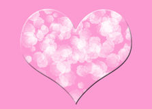 Roze bloemenhart Royalty-vrije Stock Afbeeldingen
