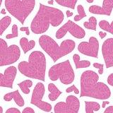 Roze bloemenharten vector naadloos patroon royalty-vrije stock foto's