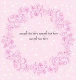 Roze bloemenkroon Royalty-vrije Stock Afbeelding