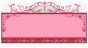 Roze bloemframe Stock Fotografie