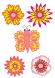 Roze bloeminzamelingen Royalty-vrije Stock Foto's