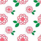 Roze bloempatroon Royalty-vrije Stock Foto