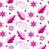 Roze bloempatroon Stock Afbeeldingen