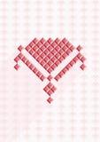 Roze bloempictogram Stock Afbeeldingen