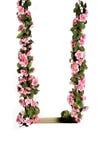 Roze bloemschommeling Royalty-vrije Stock Afbeeldingen