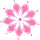 Roze bloemtekening royalty-vrije illustratie