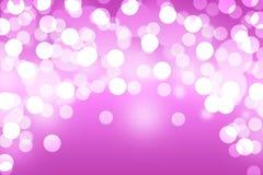 Roze bokeh abstracte lichte achtergrond royalty-vrije illustratie
