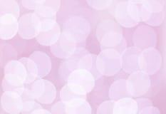 Roze bokehcirkels Royalty-vrije Stock Afbeeldingen