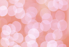 Roze bokehcirkels Stock Foto's