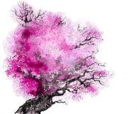 Roze boom vector illustratie