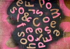 Roze brieven Royalty-vrije Stock Fotografie
