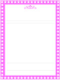 Roze brievendocument bank 03 vector illustratie