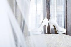 Roze Bruids schoenen Royalty-vrije Stock Foto