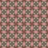 Roze, bruin en grijs geometrisch naadloos patroon met gestreepte ruiten stock foto