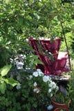Roze bus in Teufelberg Stock Afbeelding