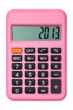 Roze calculator Royalty-vrije Stock Foto