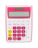 Roze calculator Stock Foto