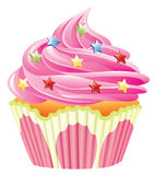 Roze cupcake vector illustratie