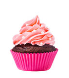 Roze cupcake Royalty-vrije Stock Afbeeldingen
