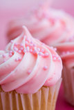 Roze cupcakes Royalty-vrije Stock Fotografie
