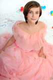 Roze dame Royalty-vrije Stock Foto's