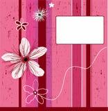 Roze de bloemachtergrond van Grunge Stock Foto's