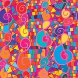 Roze de nota vertcial naadloos patroon van de waterverfmuziek Royalty-vrije Stock Foto