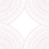 Roze de pastelkleurkaart van het krabbelornament, vectorillustratie Stock Foto