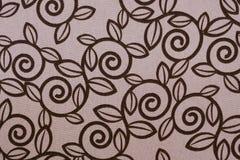 Roze de stoffenpatroon van het wervelingsblad Royalty-vrije Stock Afbeeldingen