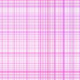 Roze de strepenplaid van de pastelkleur Stock Afbeelding
