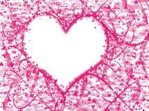 Roze de textuur van achtergrond hartlovecolor onduidelijk beeldgevolgen stock illustratie