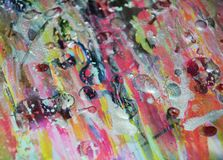 Roze de verfachtergrond van de was zilveren pastelkleur op gebrande textuur Stock Afbeeldingen