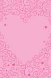 Roze de wervelingsachtergrond van de hartliefde stock afbeelding