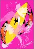 Roze de zomerachtergrond stock illustratie