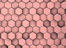Roze decoratieve oppervlakteachtergrond in verschillende niveaus, met schaduwen royalty-vrije illustratie