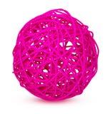 Roze decoratieve rieten ballen Royalty-vrije Stock Foto's
