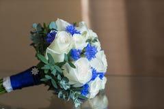 Roze del ramo de la boda Imágenes de archivo libres de regalías