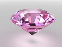 Roze diamant met zachte schaduwen Royalty-vrije Stock Afbeelding