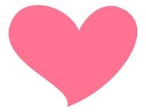 Roze die hart op witte achtergrond wordt geïsoleerdi Symbool van liefde, gezondheid en positief gevoel Royalty-vrije Stock Foto