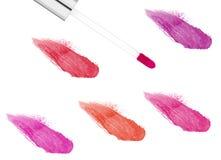 Roze die lipgloss op wit wordt geïsoleerd Royalty-vrije Stock Afbeelding