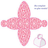 Roze doosmalplaatje met handvat, geen nodig lijm Royalty-vrije Stock Fotografie