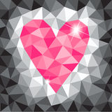 Roze driehoekshart Stock Foto