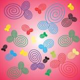 Roze eenvoudige septi als achtergrond Royalty-vrije Stock Afbeeldingen